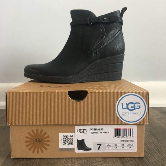 724768d423a UGG Emalie Waterproof Wedge Boots